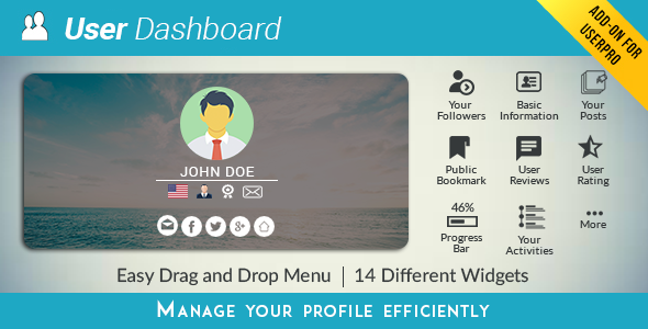 USERPRO DASHBOARD V3.6.1 – PLUGIN WORDPRESS