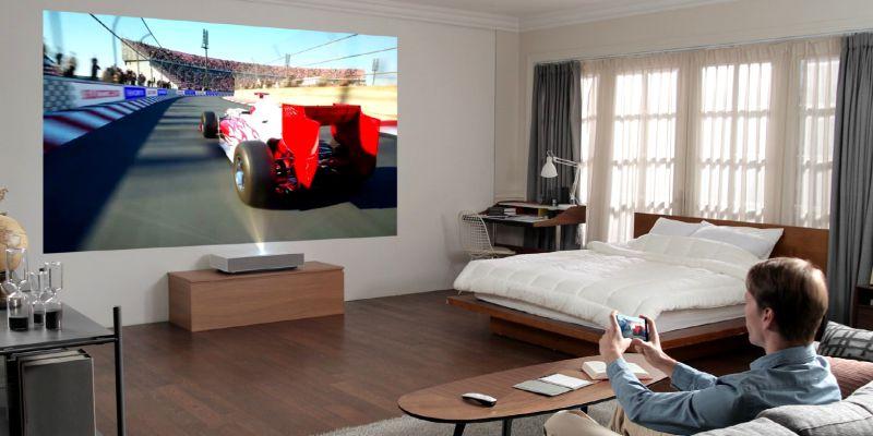 LG antecipa CES e revela projetor laser 4K de 120 polegadas