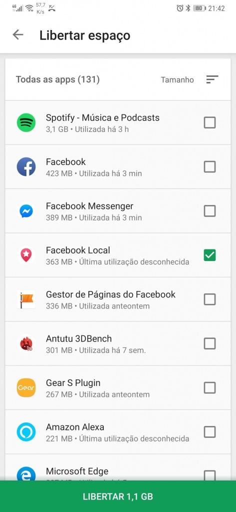 Saber o espaço ocupado pelas apps no Android e removê-las na Play Store