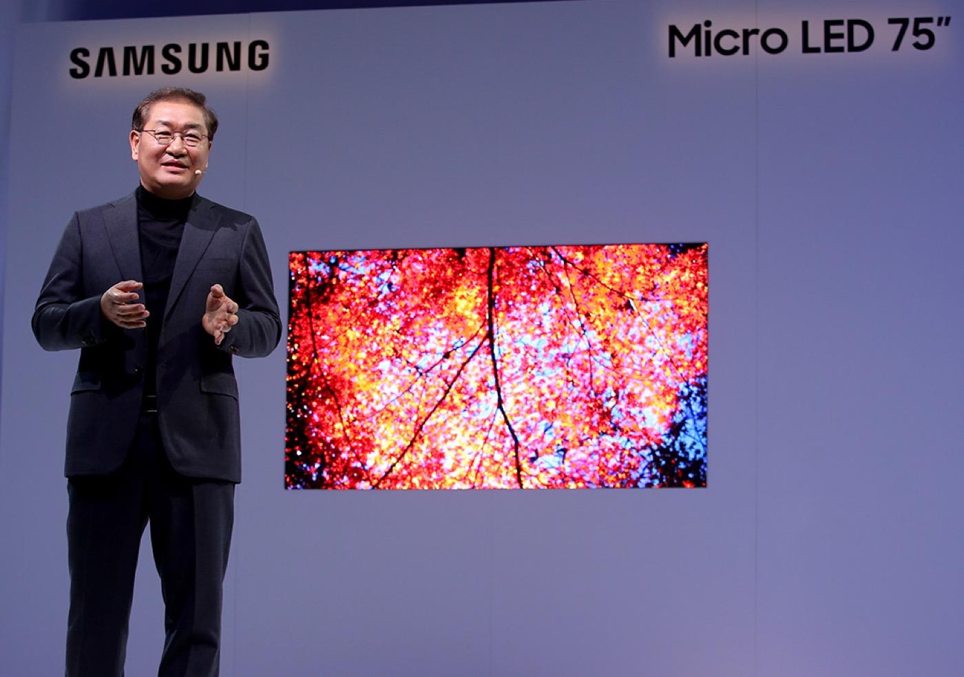 Tecnologia MicroLED mostrada pela Samsung na CES 2019 e por que ela é importante