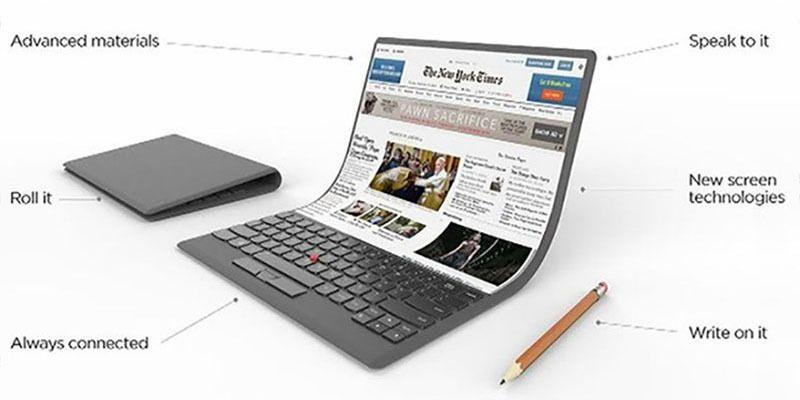 Há novas imagens da patente para portátil com ecrã dobrável da Lenovo