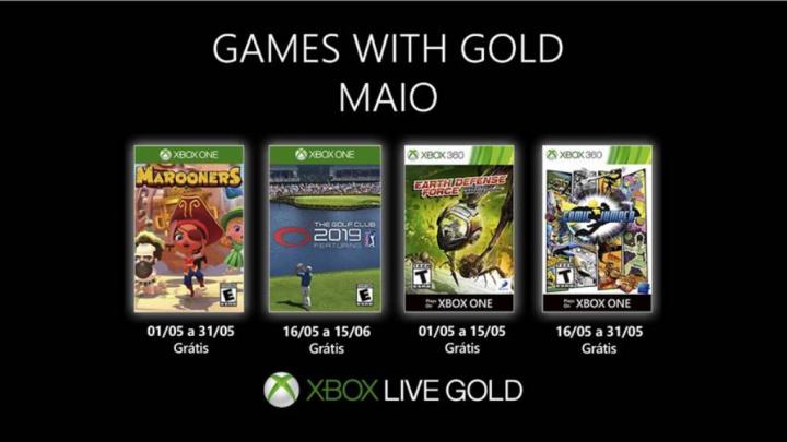 Games with Gold: os jogos gratuitos para a Xbox em maio de 2019