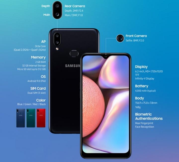 Samsung Galaxy A10s é a nova aposta para o segmento econômico