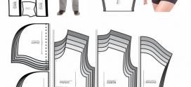 Pacote com 100 moldes da atualidade para costura de roupas